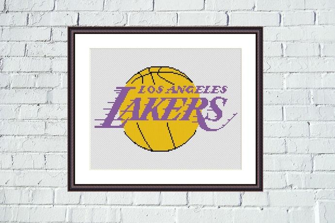 Los Angeles Lakers cross stitch pattern