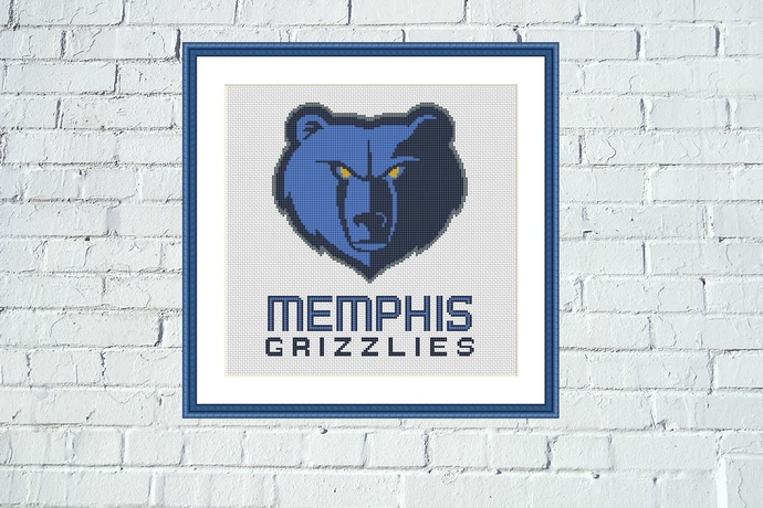 Memphis Grizzlies cross stitch pattern