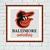 Baltimore Orioles cross stitch pattern