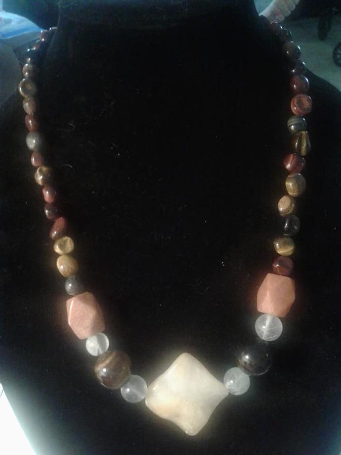 Jade & Tiger Eye Necklace