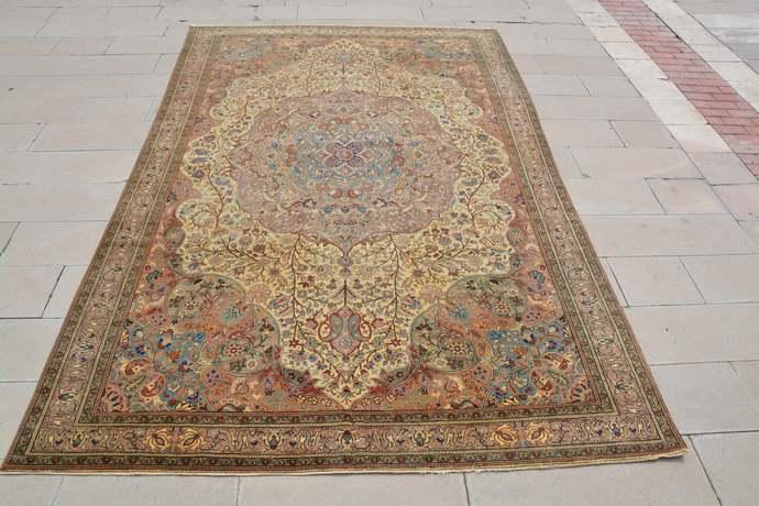 Turkish Oriental Carpets, Area Rug Shop, Hand Tufted Wool Rug, Thin Turkish Rug,