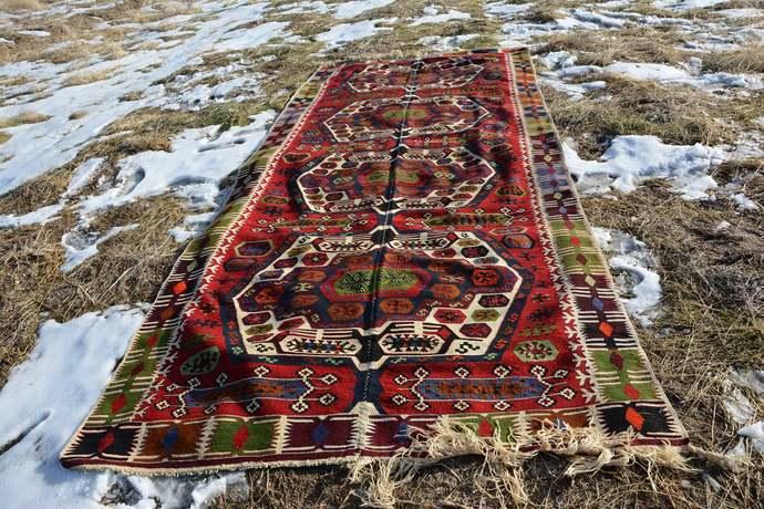 Turkish Kilim Rug, Area  Large Area Rug, Pink Kilim, Kelim Runner Rug,   Kilim