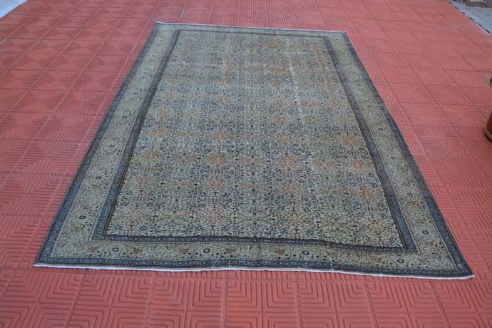 Woven Oriental Rug, Turkish Kilim Rug, Antique Rug, Vintage Rugs, Art Deco Rug,