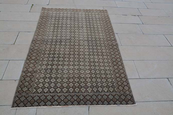 Oushak Area Rugs, Vintage Home Area Rugs, Ancient Turkish Rugs,  Gray Turkish
