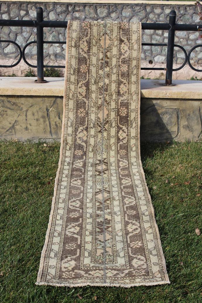 Oriental Rug, Turkish Floor Handmade Oushak Rugs, Anatolian Runner Boho