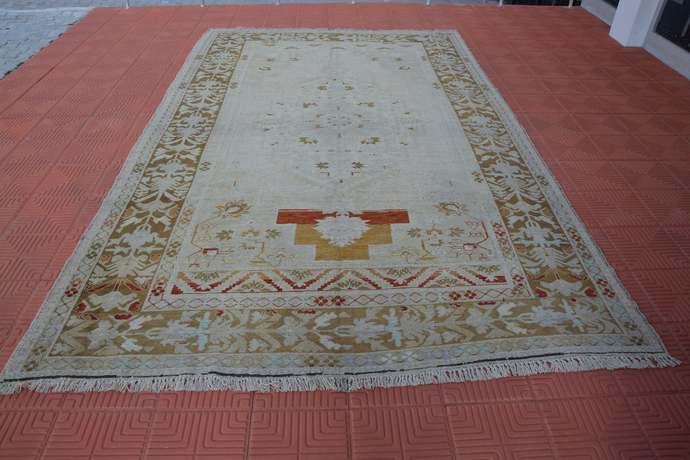 Large Turkish Rug, Large Turkey Rug, Living Room Rug, Oushak Rug,  Large Area