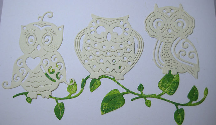 3 Owls and Branch Metal Cutting Die