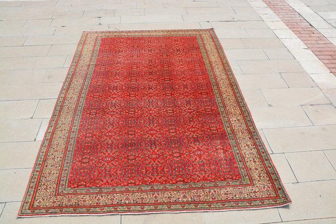 Turkey Rug, Red Tribal  Turkish Style Rugs, Turkish Kilim Rugs, Antique Turkish