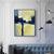 Printable Art, Art Poster, Digital Download, Wall Decor, navy blue and yellow,