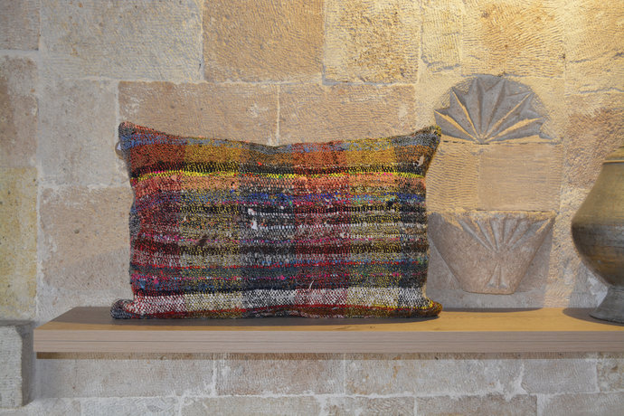40x60 cm Cushion, Faded  Boho Cushion, Natural   Orange Boho Cushion, Antique