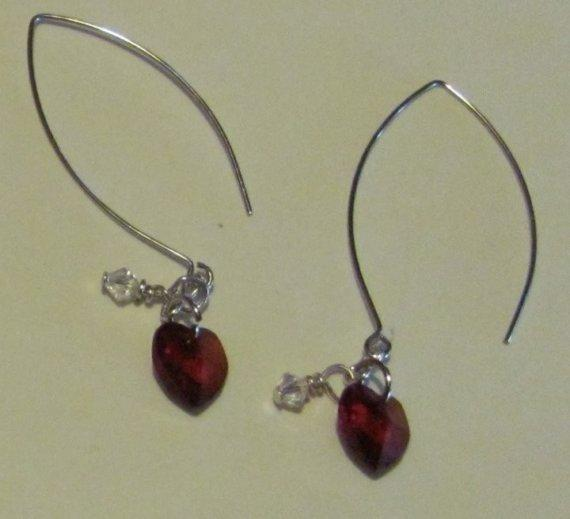 Baby's Heart, Mother's Tears Earrings