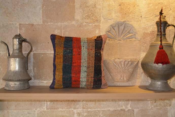 Organic Turkish Pillow Case, Hemp Pillow, Brown Beige Pillow, Fall Pillow, Bed