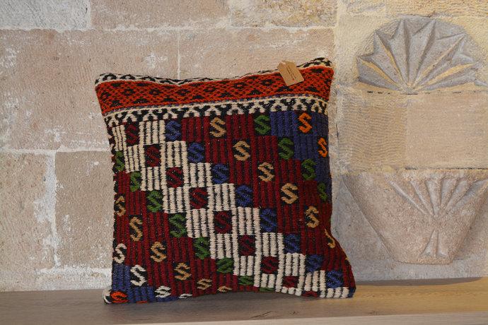 Kilim Sofa Pillow, Striped Kilim Pillow, 16x24 Kilim Pillows, Handmade Kilim