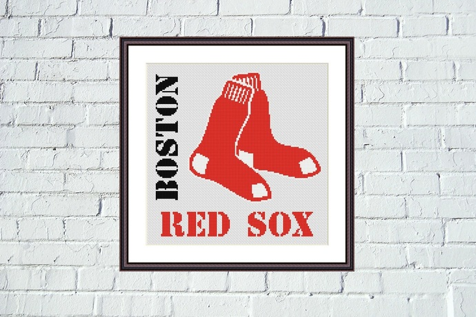 Boston Red Sox cross stitch pattern