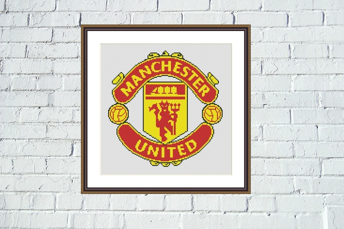 Manchester United cross stitch pattern