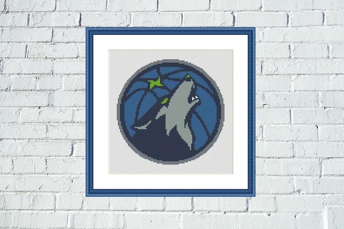 Minnesota Timberwolves cross stitch pattern