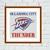 Oklahoma City Thunder cross stitch pattern Basketball embroidery