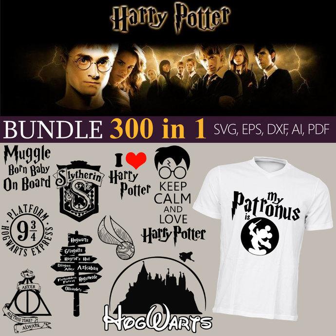 Big BUNDLE 300 in1  Harry Potter Svg, Harry Potter Svg, Harry Potter universe,