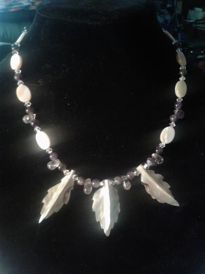 Amethyst and Mother of Pearl Necklace