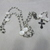 White Catholic rosary good for First Holy Communion or Confirmation