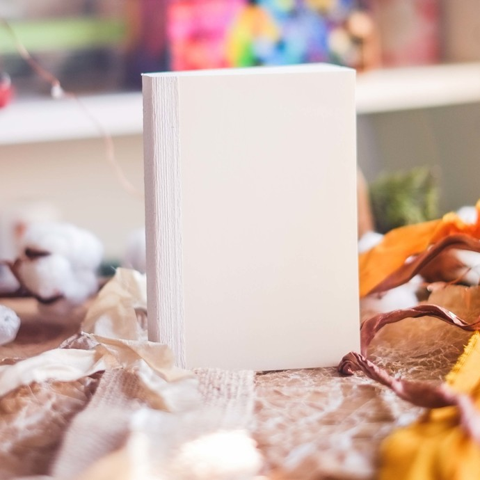 Blank Journal Book - A6 size - plain pages for your creativity made with Italian