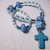 Protestant Prayer beads in turquoise and white color with turquoise color Cross