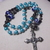 Turquoise, white, and silver color Protestant Prayer Beads