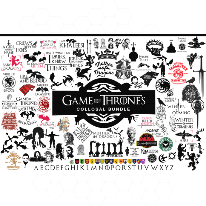 Game of thrones svg bundle, game of thrones big svg, mother of dragons svg, game