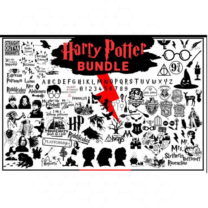 Harry potter bundle svg, harry potter svg, hogwarts svg, wizard svg, gryffindor