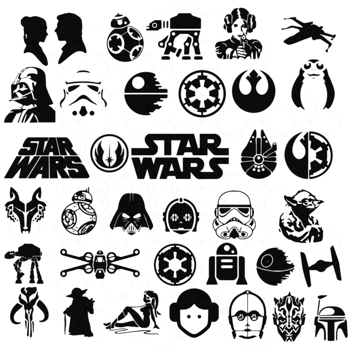 Star Wars Bundle SVG JPG DWG png Silhouette Cameo or Cricut Digital Download