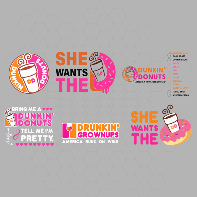 dunkin donuts svg, she wants the d, she wants the d svg, dunkin' donuts, dunkin,