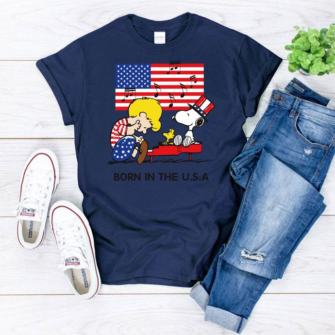 Peanuts Schroeder, Snoopy, Born in USA, snoopy svg, snoopy dog, snoopy clipart,