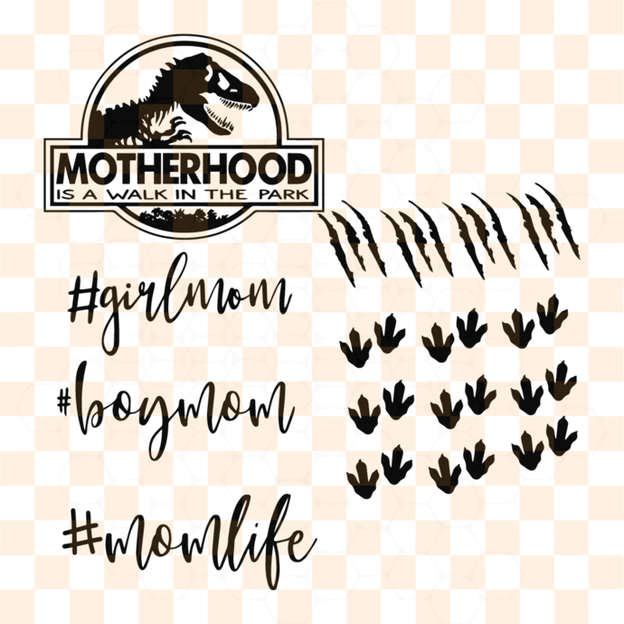 Motherhood is a walk in the park, mother svg, mother life svg, mother gift,