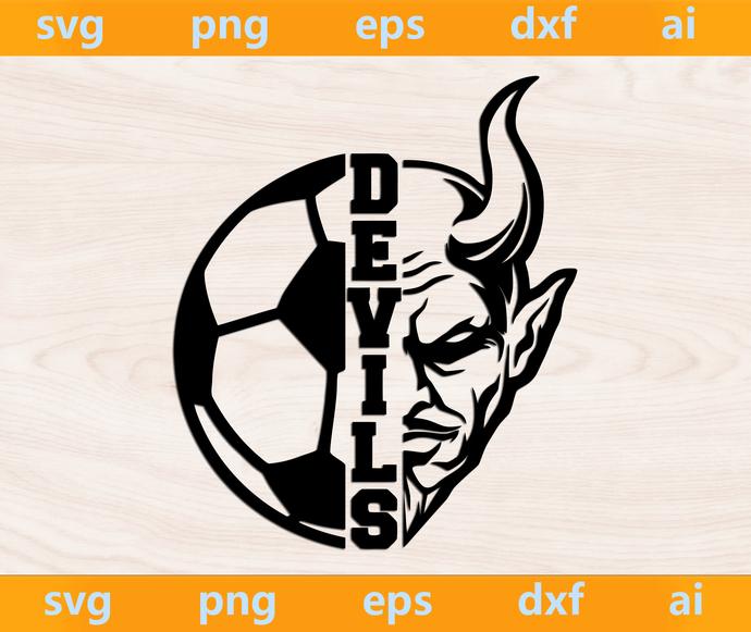Devils svg, Devils ai, Devils png, Devils eps, Devils dxf, Devils Silhouette,