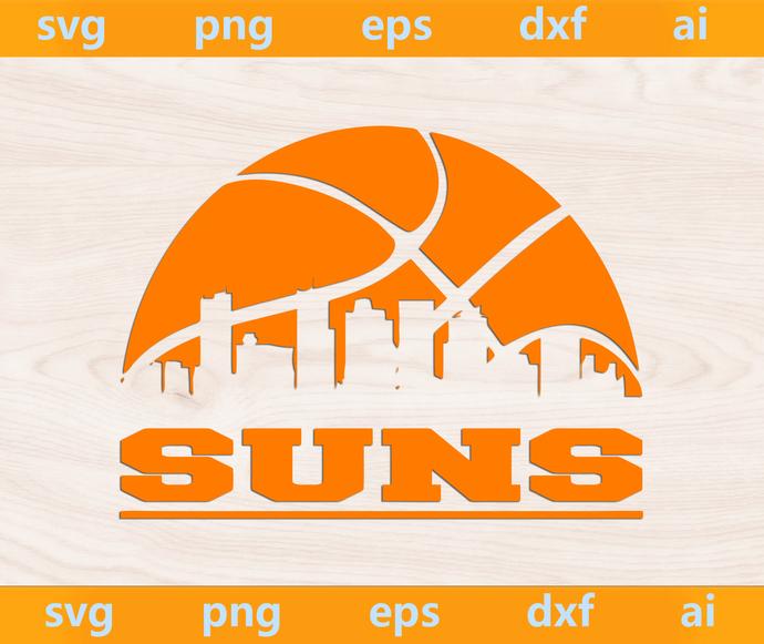 Suns svg, Suns ai, Suns png, Suns eps, Suns dxf, Suns Silhouette, Phoenix Suns