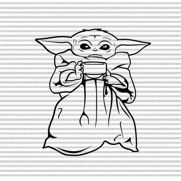 Baby Yoda Baby Yoda Coffee Svg Baby Yoda By Shopsvgpro On Zibbet