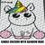 Kawaii Unicorn With Rainbow Mane crochet graphgan blanket pattern; c2c; single