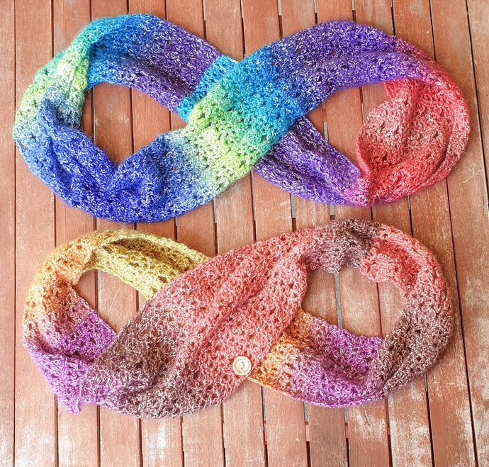 Desert Rainbows - Infinity Cowl - PDF Download Only