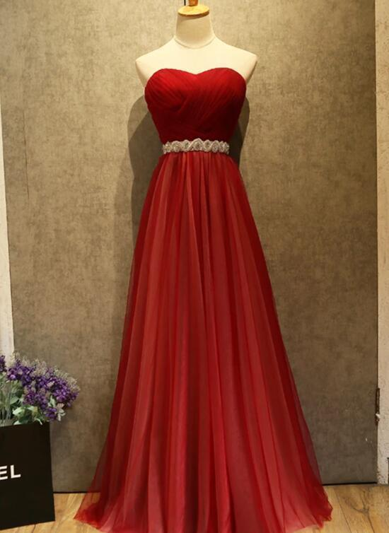 Beautiful Long Tulle Sweetheart Party Dress, New Formal Gown 2020