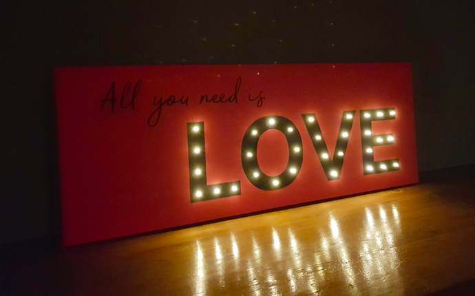 Light up LOVE, All you need is love sign, Large Love sign, Light up letters,
