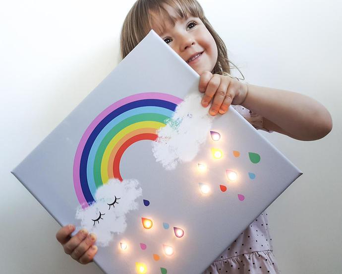 Rainbow lamp, Cloud lamp, Cloud light, Marquee light, Lighted marquee, Rainbow