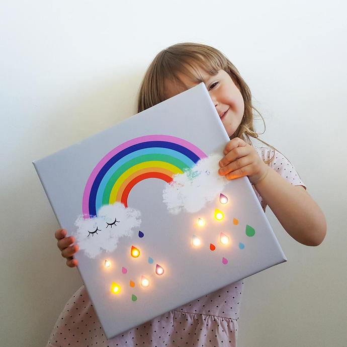 Rainbow led, Rainbow Raindrops, Rainbow wall art, Neon, Marquee light, Rainbow
