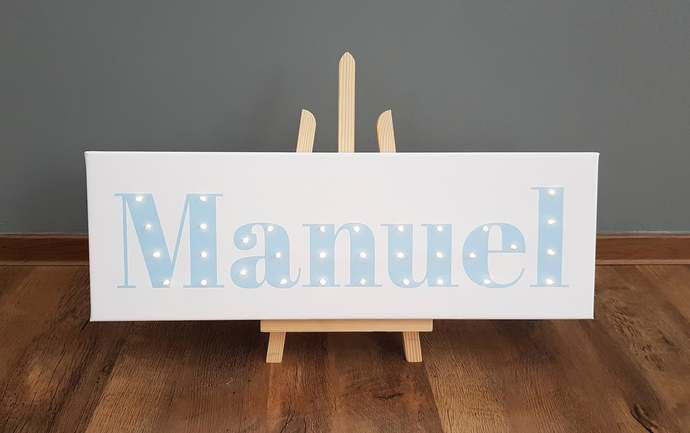 Baby name sign, Light box, Light sign, 1st birthday gift, Personalized light up