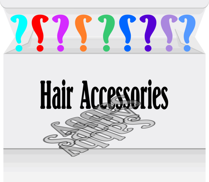 Hair Accessories Box-Digital Clipart-Gift Tag-Scrapbooking-Gifts-Jewelry.