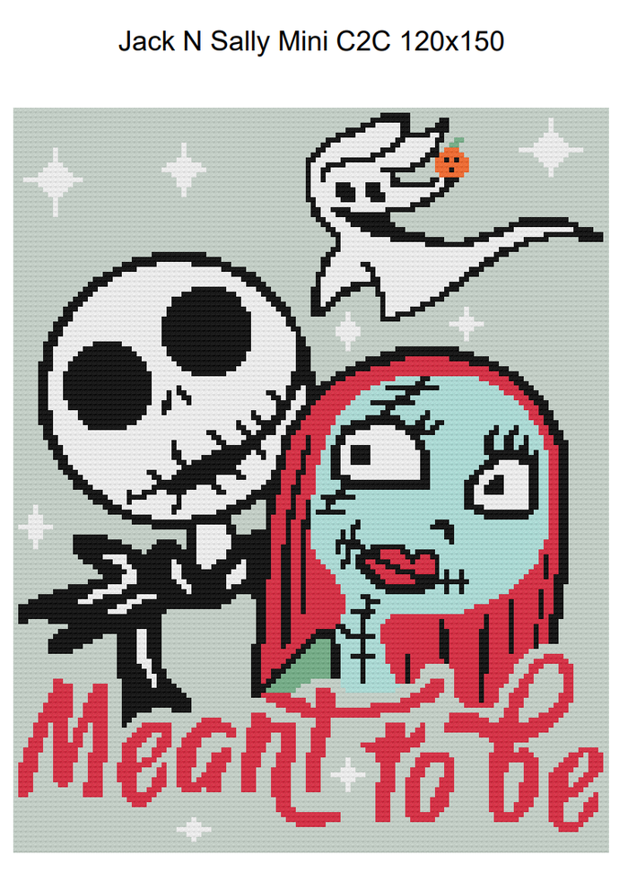 Jack and Sally Meant to be Mini C2C 120x150