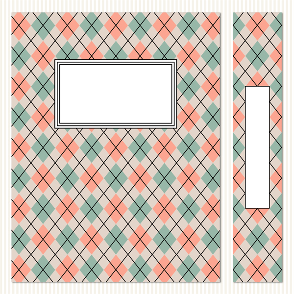 Printable Binder Covers & Spines_Argyle Set 2