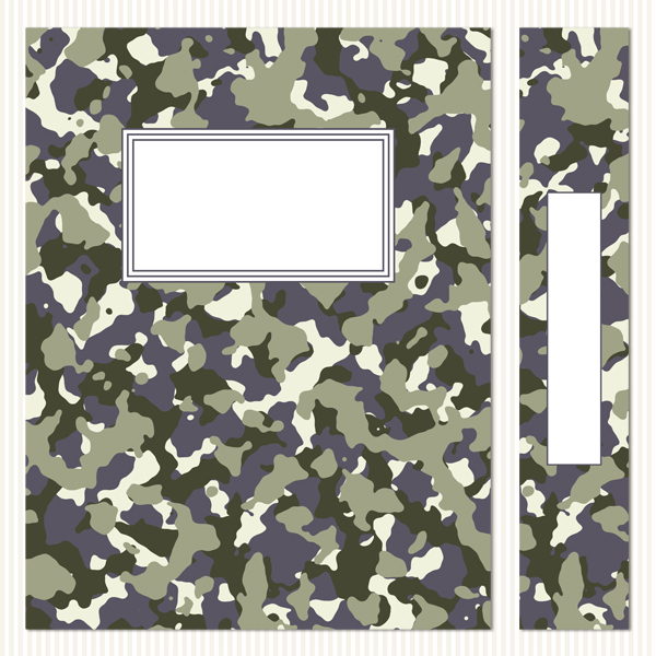 Printable Binder Covers & Spines_Camouflage