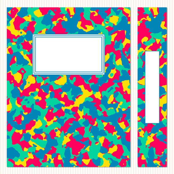 Printable Binder Covers & Spines_Vibrant Camouflage