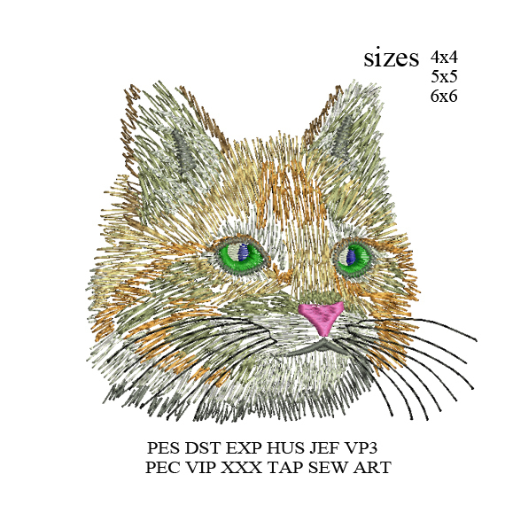 Cat embroidery Design,Cat Sketch embroidery pattern,cute cat embroidery