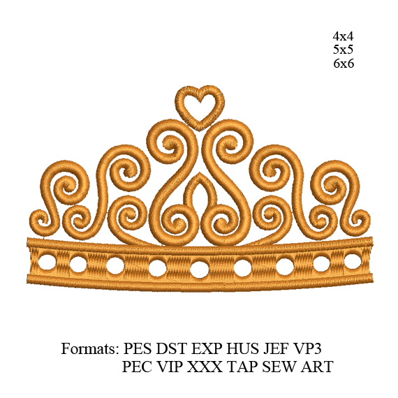 Crown embroidery design,Crown embroidery pattern,mini Crown embroidery